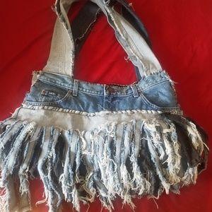 Handmade levi handbag